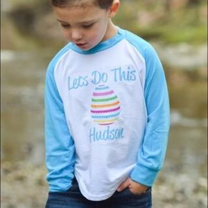 Other - 🆕Boys Easter Egg Personalized Raglan Tee